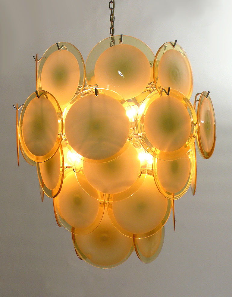 Vistosi disc chandelier 36 disc made once only aloadofball Image collections