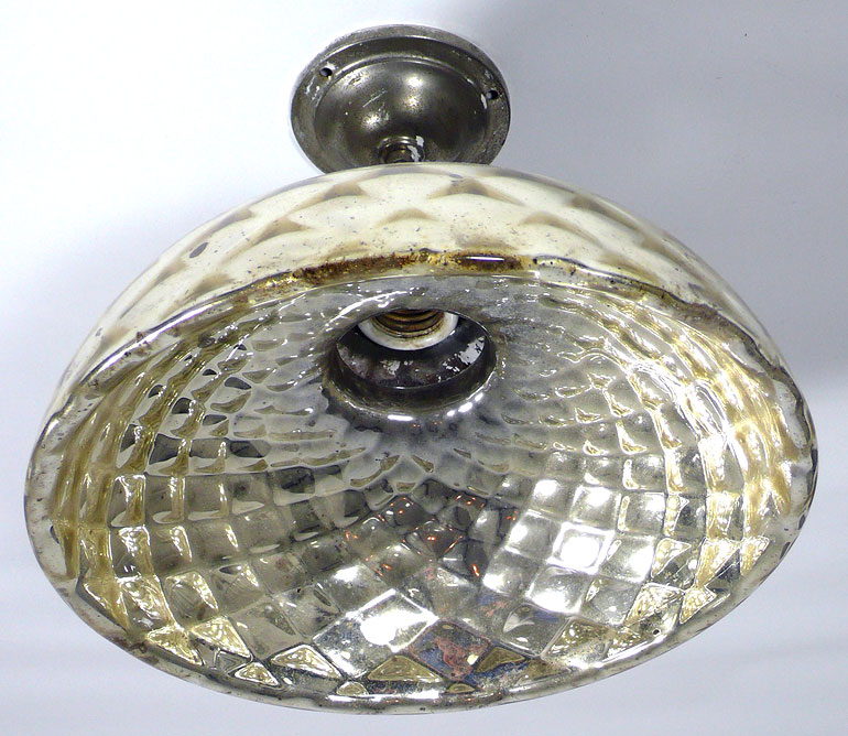 1920s Mercury glass wall or ceiling light Made Once Only